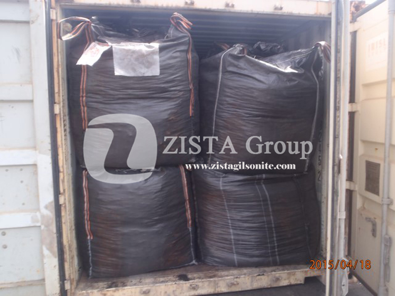 Gilsonite Lumps in Container